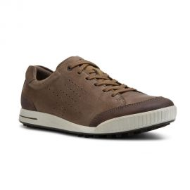 ECCO Men's Street Retro Hydromax Golf Shoe - Birch/Coffee