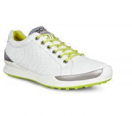 ECCO Biom Hybrid Men's Golf Shoes - White/Lime