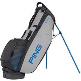 PING 4 Series Stand Bag-Charcoal/Light Grey/Birdie Blue