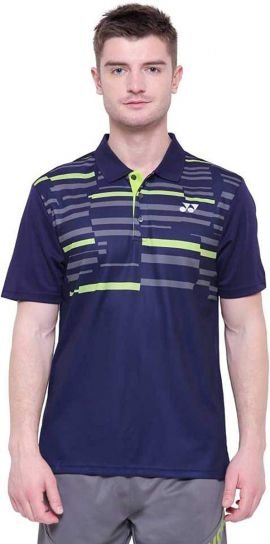 Yonex Printed Men Polo T-Shirt (Eclipse)