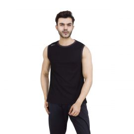 Dida Men's Black Spandex Sleeveless