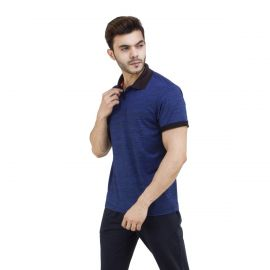 DIDA Men's Melange Spandex Sports Polo T-Shirt