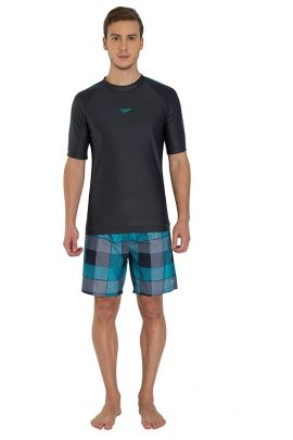 Speedo Male Swimwear Short Sleeve Suntop