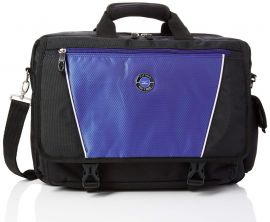 Mizuno Brief Case Travel Bag, Laptop Bag, Black/Blue