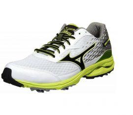 Mizuno Wave Cadence Spiked Golf Shoes, White/Lime