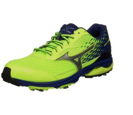 Mizuno Wave Cadence Spiked Golf Shoes, Lime/Blue