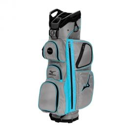 Mizuno Elite Golf Cart Bag, Grey/Scuba Blue