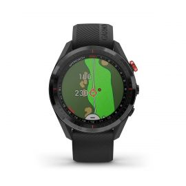 Garmin Approach S62 Black Ceramic Bezel with Black Silicone Band