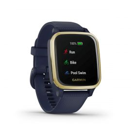 Garmin Venu Sq Music - Navy/Light Gold
