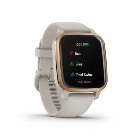 Garmin Venu Sq Music - Light Sand Rose Gold