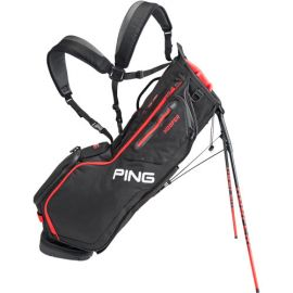 PING 2021 Hoofer Golf Stand Bag Black/Red