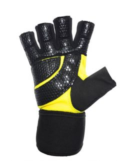 YOGPRO Gym Gloves Panther - Black/Yellow