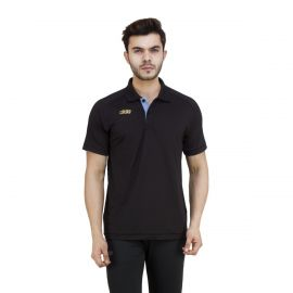 DIDA Men's Solid Spandex Polo T-Shirt