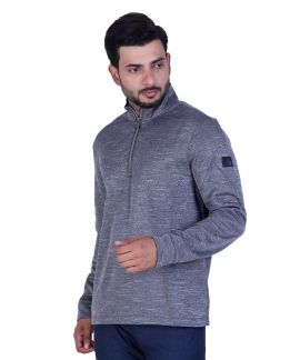 Greg Norman Men's Space Dyed Fleece Warm Layer Pullover Gray
