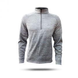 Blend Lined 1/4-Zip Wind Pullover - Gray