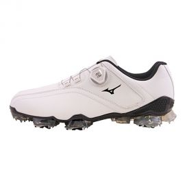 Mizuno Valour 2.0 New Golf Shoe, White/Black