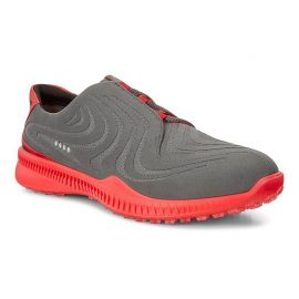ECCO M Golf S-Drive Golf Shoe, Grey/Red