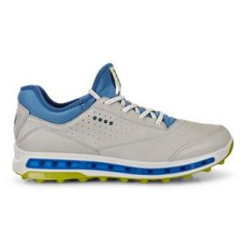 ECCO Cool Pro Concrete Golf Shoe, White/Blue/Lime