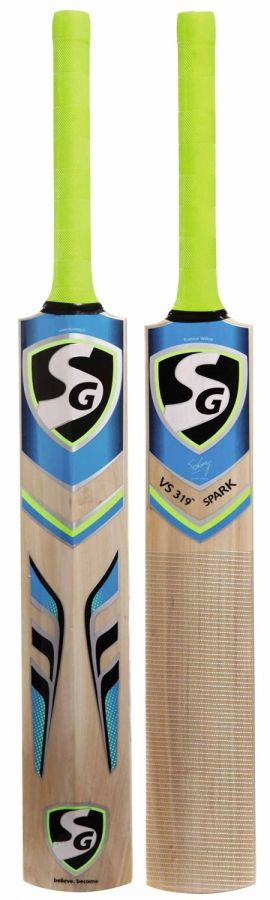 SG VS 319 Spark Kashmir Willow Cricket Bat, Short Handle (Color May Vary)