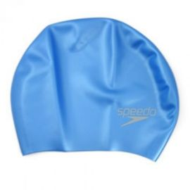 Speedo Adult Long Hair Swimming Cap, Blue