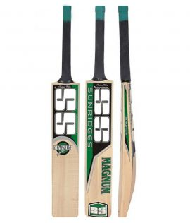 SS Magnum Kashmir Willow Cricket Bat, Short Handle (Color may vary)