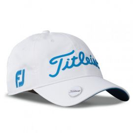 Titleist Performance Ball Marker Cap Adjustable 2017-White/Sky Blue