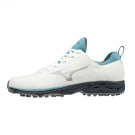 MIZUNO Men's Wave Cadence 2.0 Xw Spikeless Shoes-WHITE/BLUE/GREY