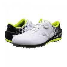 4f5e9baae7c8 Mizuno 2017 Nexlite 004 BOA Spikeless Golf Shoes - White/Lime ...